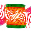 Rainbow Coil Spring Toy — Stockfoto