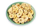 Plate of Banana Chips — Stock Photo