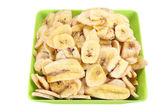 Bowl of Banana Chips — Stock Photo