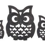 Owl Iron Rests — Stock Photo