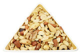Mixed Nuts in Dish — Stock Photo