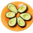 Foto Stock: Avocados on Plate