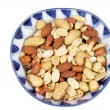 Mixed Nuts in Bowl — Stock Photo