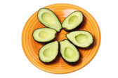 Avocados on Plate — Stock Photo
