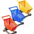 Miniature Shopping Trolleys — Stock Photo
