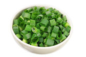 Chopped Spring Onion in Bowl — Stock Photo