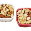 Mixed Nuts in Bowls — Stock Photo