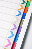 File with Labels — Stock Photo