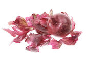 Red Onion and Skin — Stock Photo