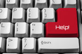 Keyboard with Help Button — Stock Photo