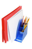 Folder and Pencils  — Stock Photo