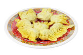 Plate of Chinese Dumplings  — Stock Photo