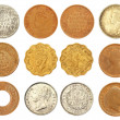 Collection of old Indian coins — Stock Photo