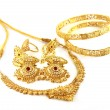 Stock Photo: Wedding gold jwelry