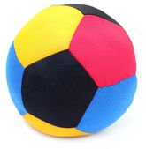 Ball made of colorful cloths — Stock Photo