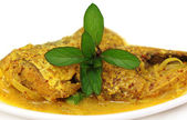 Mustard Ilish: A very popular Bengali cusine of Hilsa fish with mustard seeds — Stock Photo