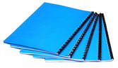 Blue copybooks — Stock Photo