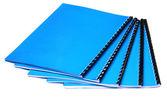 Blue copybooks — Stock Photo