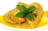A very popular Bengali cusine of Hilsa fish with mustard seeds — ストック写真
