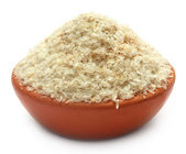 Medicinal Isabgol or psyllium husks on a clay pot — Stock Photo