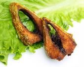 Popular fried hilsa or Ilish fish of Southeast Asia — Stock Photo