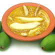 Stock Photo: Green mango with kasundi
