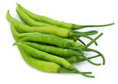 Group of fresh green chilies — Stock Photo