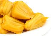 Juicy jackfruit flesh — Stock Photo