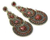 Indian earrings — Stock Photo