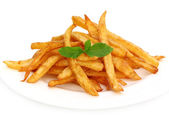 French fry with mint leaves — Stock Photo