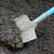Stock Photo: Manure with spade