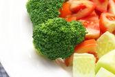 Fresh salad with brocolli — Stock Photo