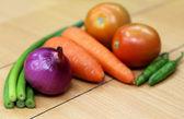 Zbliżenie świeżych warzyw — Zdjęcie stockowe