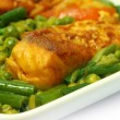 Stock Photo: Spicy dish of rohu fish