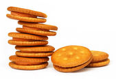 Double layer cream cookies — Stock Photo
