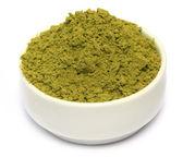 Henna powder on bowl — Stock Photo