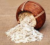 Spłaszczone ryżu — Zdjęcie stockowe