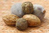 Triphala, a combination of ayurvedic fruits — Stock Photo