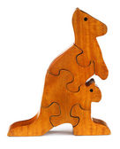 Puzzle blocks make a kangaroo — Stock Photo