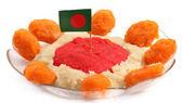 Halva with national flag — 图库照片