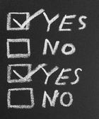 Yes No check box by chalk — Stock fotografie