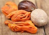Mace or Javitri Spice with nutmeg — Stock Photo