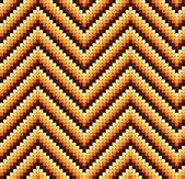 Seamless 60s Retro Zigzag Pattern Warm — Stock Vector