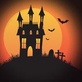 Halloween Spooky House — Stock Vector