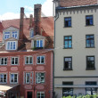 Facades of the old houses in the town Riga, Latvia — Stock Photo #12698389