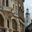 Facades of the old houses in the town Riga, Latvia — Stock Photo #12698467