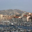 Stock Photo: View onto the Old Port of Marseille, France