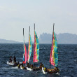 Sports sailboats in the bay near Marseilles, France — Stock Photo