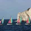 Stock Photo: Sports sailboats in the bay near Marseilles, France