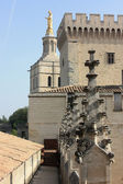 View on the Notre Dame des Doms Palais des Papes, Avignon, France — Stock Photo